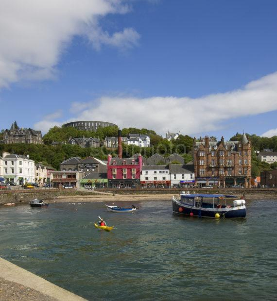 Oban Town And Tower From Morth Pier