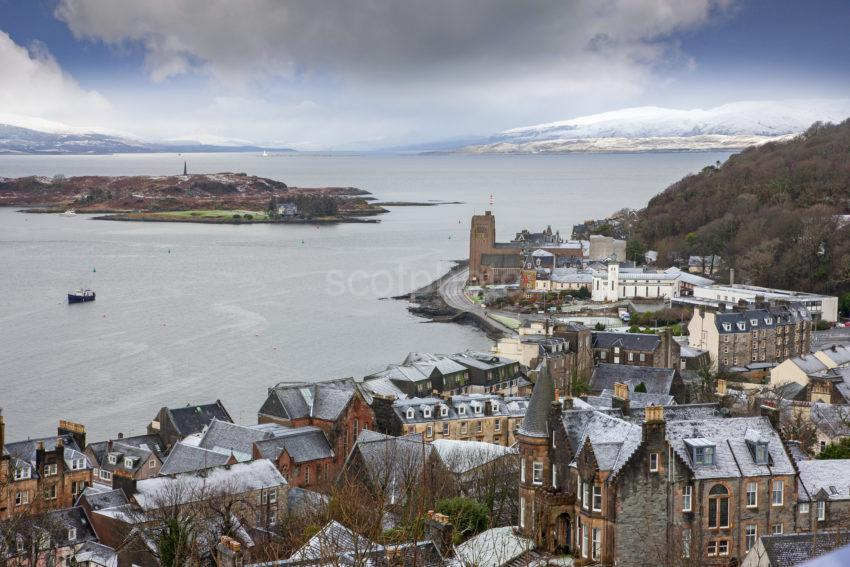 1Z6E3419 Oban Bay From Mccaigs Tower Jan 2020